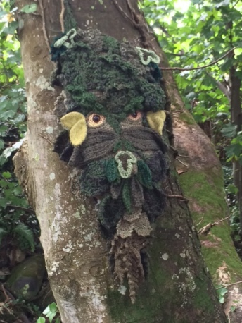 Knitted green man